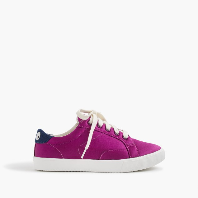 Kids' satin lace up Max the Monster sneakers