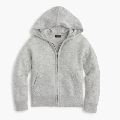Girls' cashmere hoodie