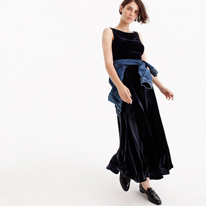 Collection velvet maxi dress