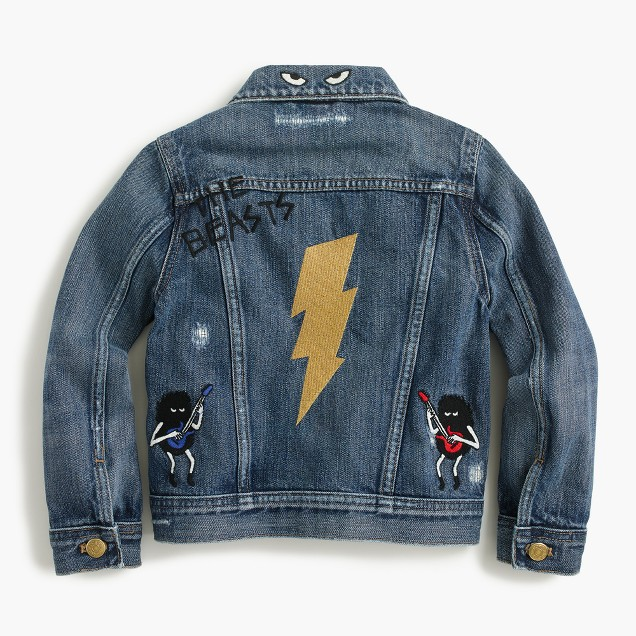 Boys' limited-edition denim jacket in Max the Monster and the Beasts