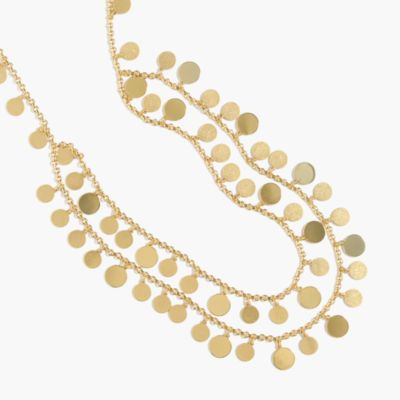 Layered disk charm necklace