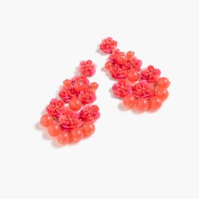 Beaded garden earrings