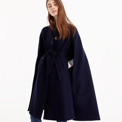 Collection Italian wool cape coat