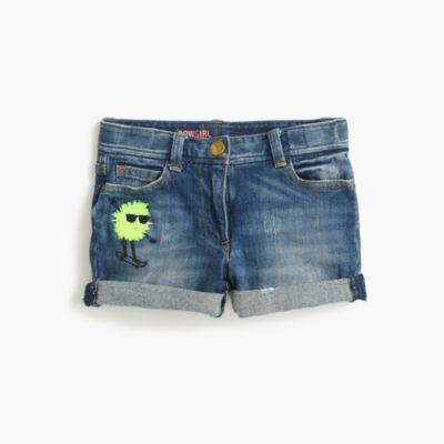 Girls' limited-edition cowgirl short in skateboarding Max the Monster