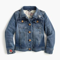 Girls' limited-edition denim jacket in sushi patches