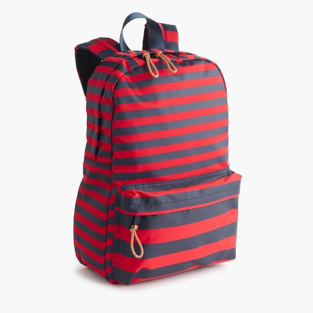 Kids' striped backpack