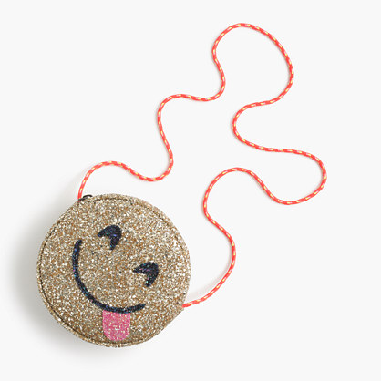 Girls' glitter bag in yummy emoji
