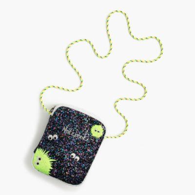 Girls' glitter notebook bag