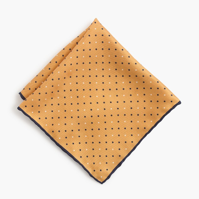 Silk pocket square in dot