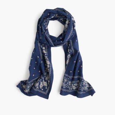 Bandana print scarf