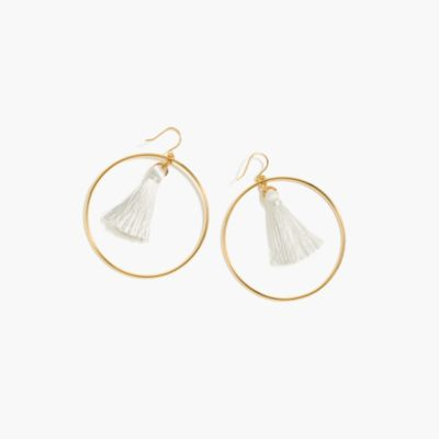 Fringy hoop earrings