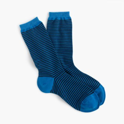 Trouser socks in thin stripes