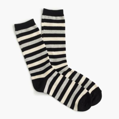 Trouser socks in vintage stripe