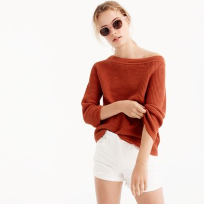 Relaxed boatneck sweater