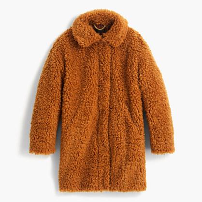 The textured Teddy coat