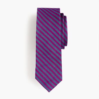 Boys' silk striped tie