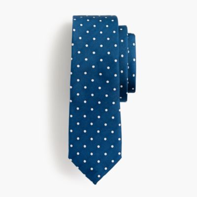 Boys' silk dot tie
