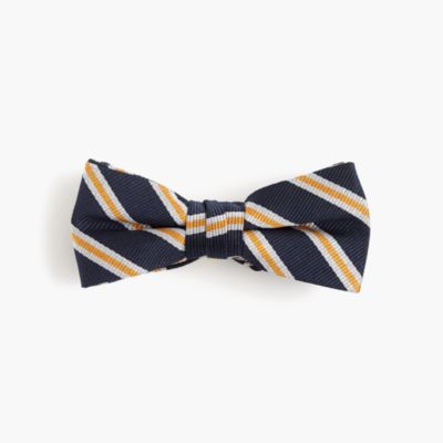 Boys' silk bow tie in stripe