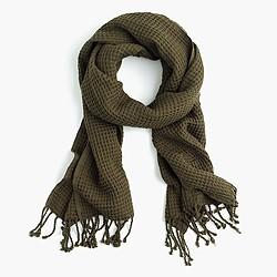 Cotton waffle scarf