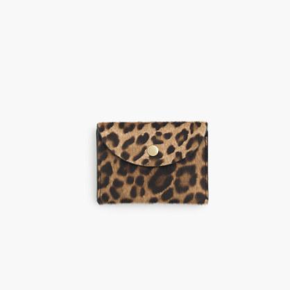 Coin purse in calf hair