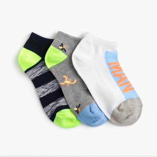 Boys' bug ankle socks three-pack