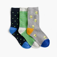 Boys' burger socks three-pack