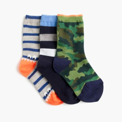 Boys' camo socks three-pack