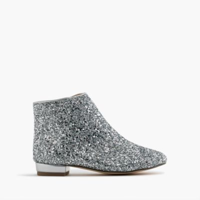 Girls' glitter booties