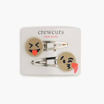 Girls' emoji hair clips