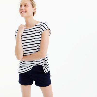 Deck-striped short-sleeve T-shirt