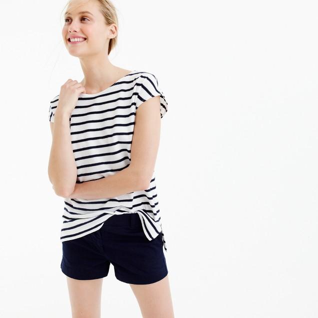 Deck-striped short-sleeve T-shirt