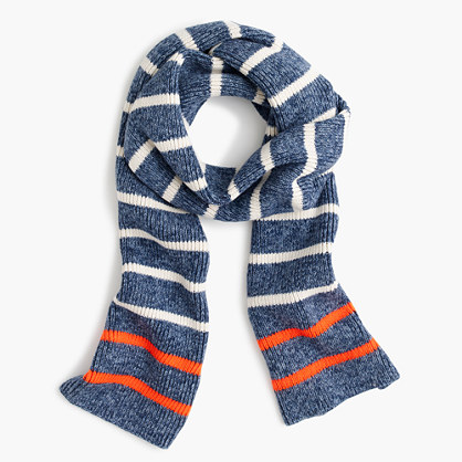 Kids' marled striped scarf
