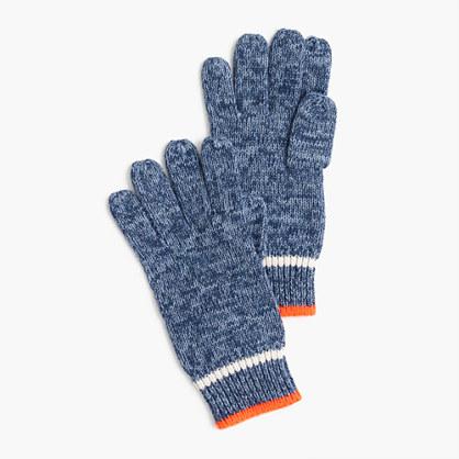 Kids' marled striped gloves