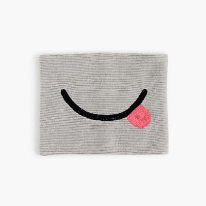 Girls' emoji-face infinity scarf
