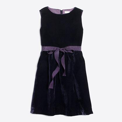 Girls' drapey velvet dress