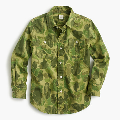 Kids' Secret Wash shirt in camo