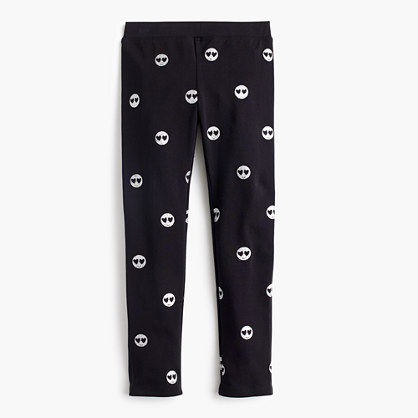 Girls' everyday leggings with emojis