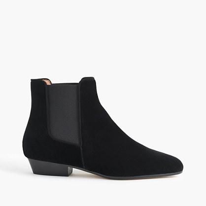 Velvet Chelsea boot