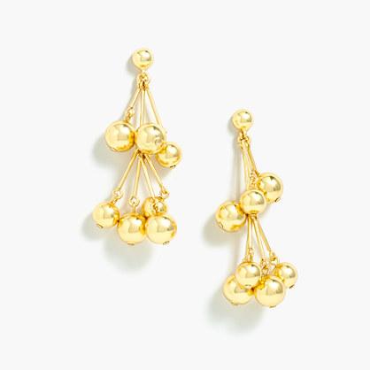 Cascade ball earrings