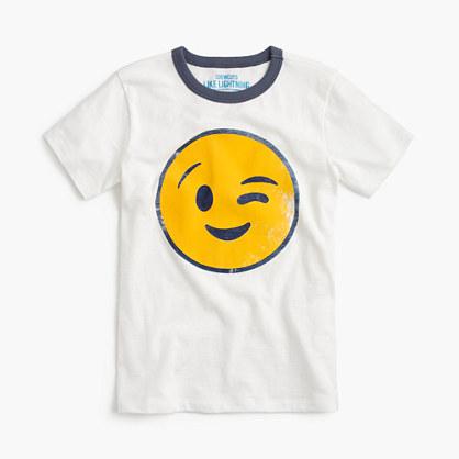 Boys' winking emoji T-shirt
