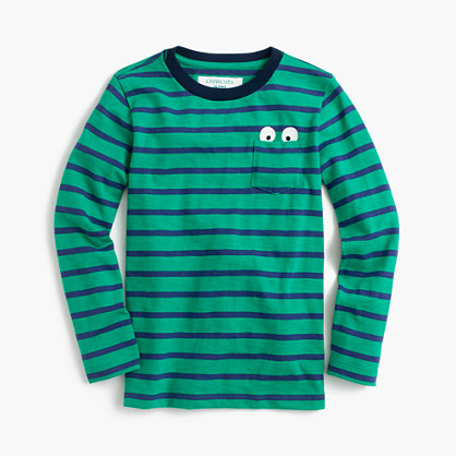 Boys' striped long-sleeve Max the Monster T-shirt