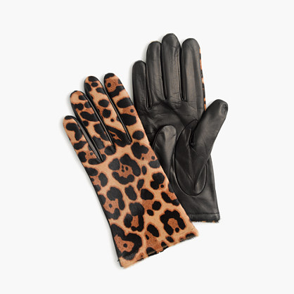 Italian haircalf leather gloves