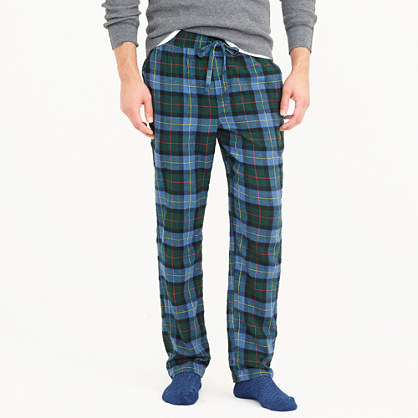 Cotton lounge pant in plaid