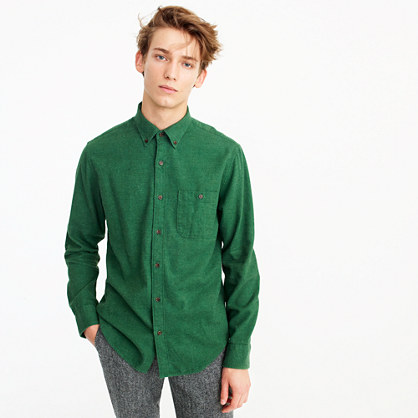 Brushed heather elbow-patch shirt in solid