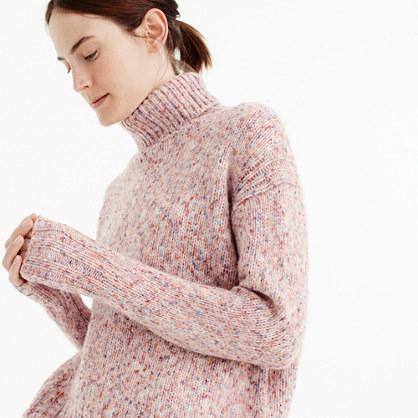 Marled wool turtleneck sweater