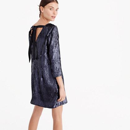 V-back sequin dress