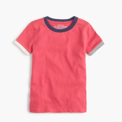 Boys' multi-colored ringer T-shirt
