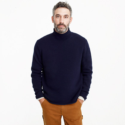 "Lambswool rollneckâ""¢ relaxed sweater"