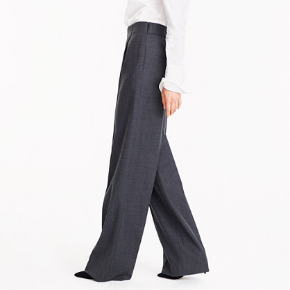 b8f3822dca0de8 Wide-leg pleated pant in stretch wool