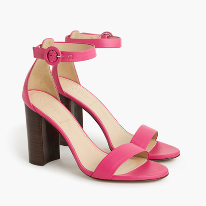 Ankle strap stacked-heel sandals